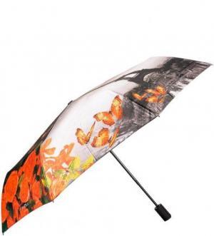 Складной зонт с ветростойким каркасом FLIORAJ. Цвет: цветочный принт