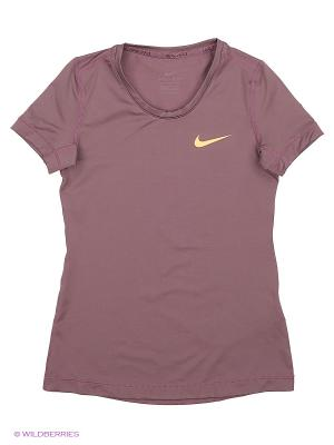 Футболка G NP CL TOP SS Nike. Цвет: фиолетовый