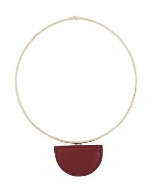 Ожерелье ACNE STUDIOS. Цвет: красно-коричневый