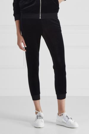 Бархатные брюки Gucci. Цвет: черный
