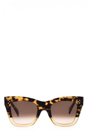 Солнцезащитные очки Céline Eyewear. Цвет: милитари
