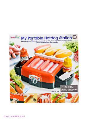 Игровой набор для приготовления хот-догов Делюкс PlayGo. Цвет: красный, черный, желтый