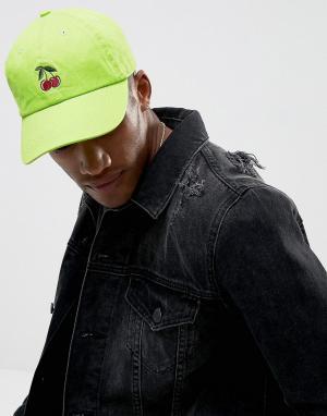Jaded London Зеленая бейсболка с вышивкой. Цвет: зеленый