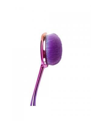 Кисть-щетка для контурирования лица MODA PRISMATIC FACE PERFECTING CONTOUR BRUSH. Royal&Langnickel. Цвет: зеленый, розовый, фиолетовый
