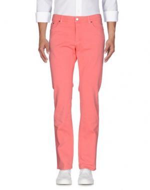 Джинсовые брюки VERSACE COLLECTION. Цвет: розовый