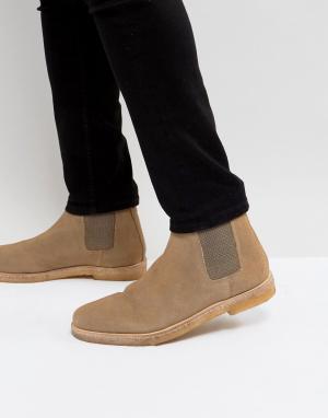 Kurt Geiger London Замшевые ботинки челси Syd. Цвет: светло-бежевый