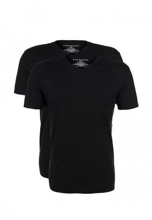 Комплект футболок 2 шт. Five Basics. Цвет: черный