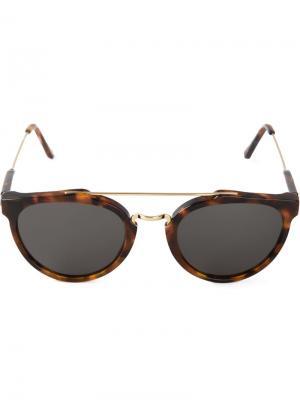 Солнцезащитные очки Giaguaro Retrosuperfuture. Цвет: коричневый