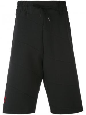 Спортивные шорты с панельным дизайном Bruno Bordese. Цвет: чёрный