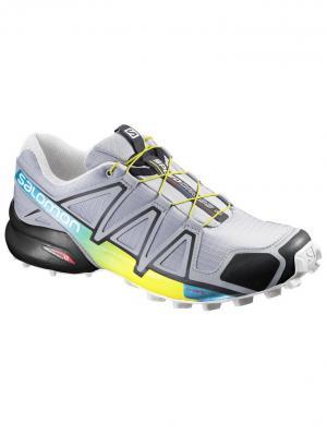 Кроссовки SHOES SPEEDCROSS 4 LIGHT ONIX/BLACK/YE SALOMON. Цвет: серый,желтый,черный