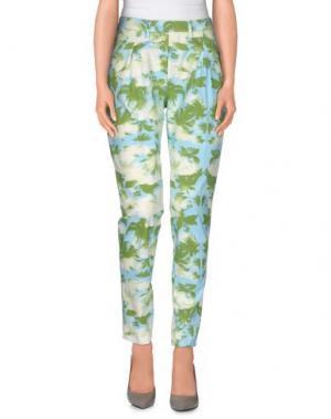 Повседневные брюки HAIKURE. Цвет: светло-зеленый