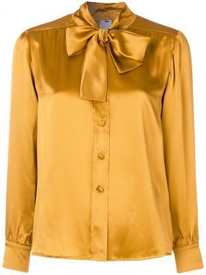 Блузка с бантом Ultràchic. Цвет: жёлтый и оранжевый