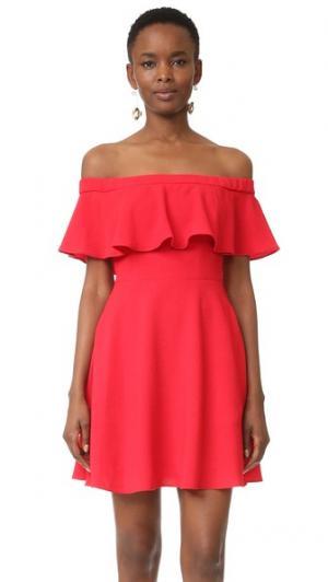Мини-платье Penelope Black Halo. Цвет: красный