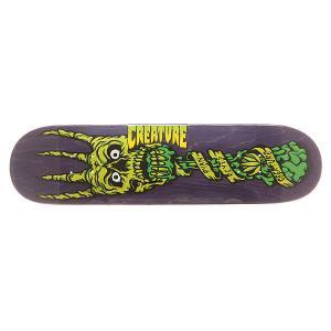Дека для скейтборда  S6 Reyes Fork You 31.6 x 8.0 (20.3 см) Creature. Цвет: фиолетовый,зеленый
