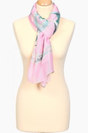 Палантин Leonard. Цвет: розовый, серо-голубой