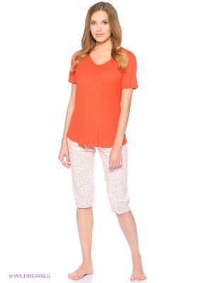 Домашний костюм Mey. Цвет: оранжевый