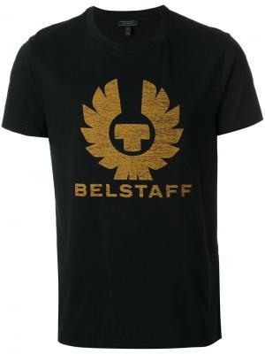 Футболка с принтом логотипа Belstaff. Цвет: чёрный