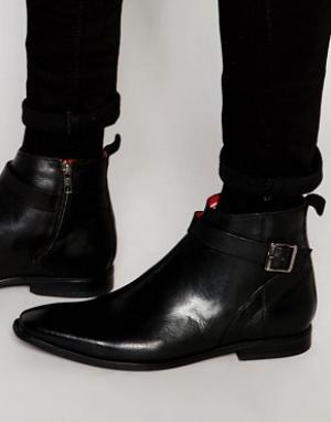 Base London Кожаные ботинки Albert Jodphur. Цвет: черный
