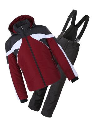 Утепленный костюм AVESE. Цвет: бордовый, темно-серый