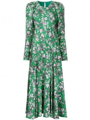 Платье Bloomsbury Bianca Spender. Цвет: зелёный