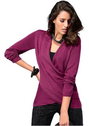 Пуловер Classics collection Classic's. Цвет: ягодный