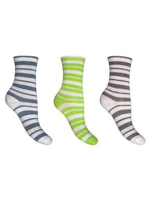 Носки 3 пары Master Socks. Цвет: белый, серый, голубой