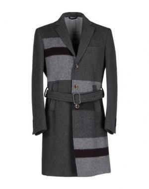Пальто QUINTESSENCE. Цвет: свинцово-серый
