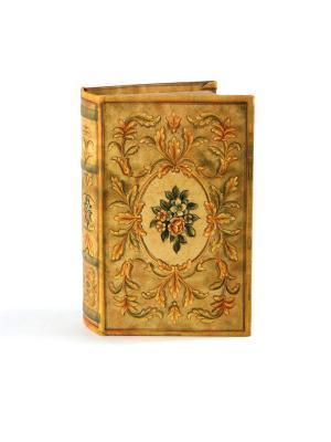 Шкатулка-фолиант Букет 17*12*6см Русские подарки. Цвет: светло-коричневый, горчичный