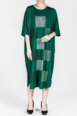 Платье Moda di Lorenza. Цвет: зеленый