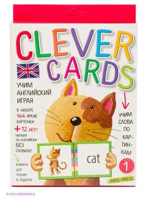 Учим английский играя. Уровень 1. Набор карточек АЙРИС-пресс. Цвет: белый, красный