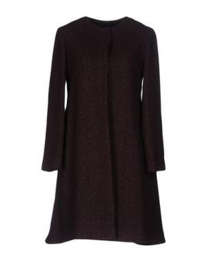 Пальто MANILA GRACE. Цвет: баклажанный