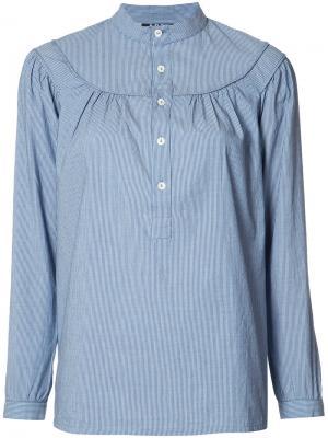 Расклешенная блузка A.P.C.. Цвет: синий