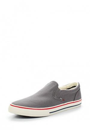 Слипоны Tommy Jeans. Цвет: серый