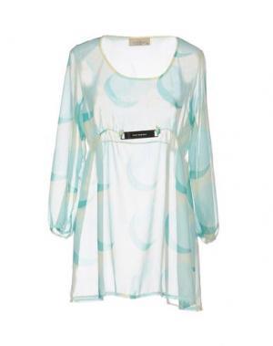 Блузка JUST FOR YOU. Цвет: бирюзовый