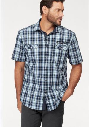 Рубашка MANS WORLD MAN'S. Цвет: синий/бирюзовый/белый