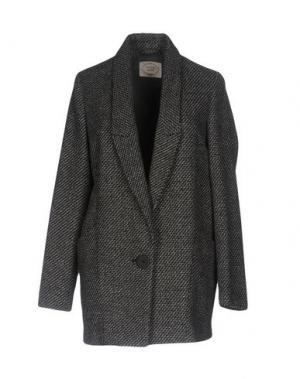 Пальто EMMA&GAIA. Цвет: стальной серый