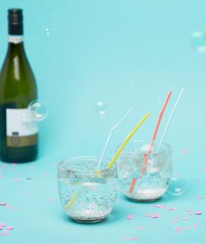 BAN DO Набор из 2 стаканов с блестками Ban.Do. Цвет: мульти