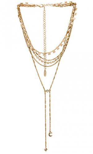 Ожерелье after dark Ettika. Цвет: металлический золотой