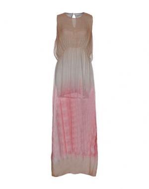 Длинное платье MARTA MARTINO. Цвет: песочный