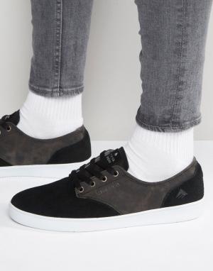Emerica Кроссовки на шнуровке Romero. Цвет: черный