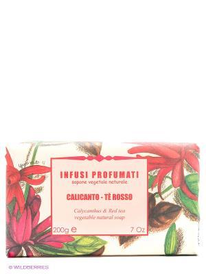 Натуральное  мыло с чащицветником и красным чаем, 200 гр. Iteritalia. Цвет: бордовый