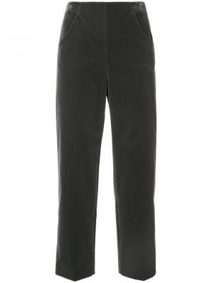 Укороченные широкие брюки Vanessa Seward. Цвет: серый