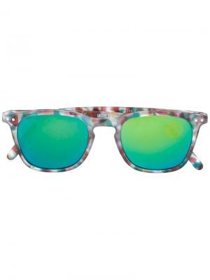 Солнцезащитные очки с квадратной оправой See Concept. Цвет: зелёный