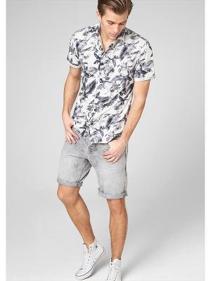 Рубашка S.OLIVER. Цвет: белый, серый