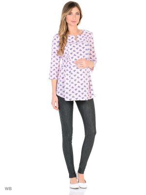 Блузка для беременных FEST. Цвет: розовый, синий