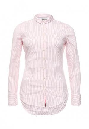 Рубашка Tommy Hilfiger Denim. Цвет: розовый
