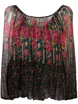 Блузка с цветочным узором Mes Demoiselles. Цвет: многоцветный