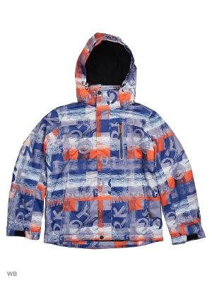 Куртка High Experience. Цвет: синий, оранжевый, серый