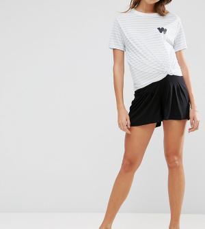 ASOS Maternity Юбка-шорты для беременных. Цвет: черный
