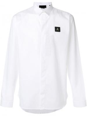Рубашка Zack Philipp Plein. Цвет: белый